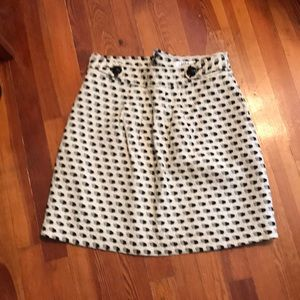 Tibi houndstooth like pattern high waisted skirt